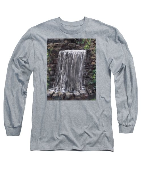 Waterfall At Longfellow's Gristmill Long Sleeve T-Shirt