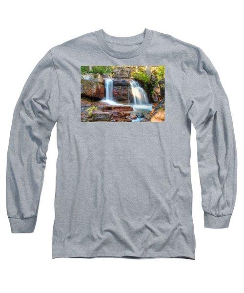 Waterfall Long Sleeve T-Shirt by Gary Lengyel