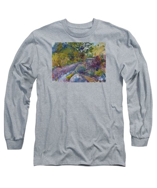 Chartreuse And Magenta Long Sleeve T-Shirt by Helen Campbell