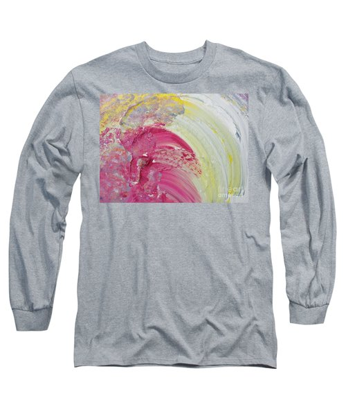 Waterfall In Pink Long Sleeve T-Shirt