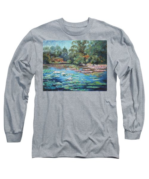 Waterlilies Pond In Tower Grove Park Long Sleeve T-Shirt