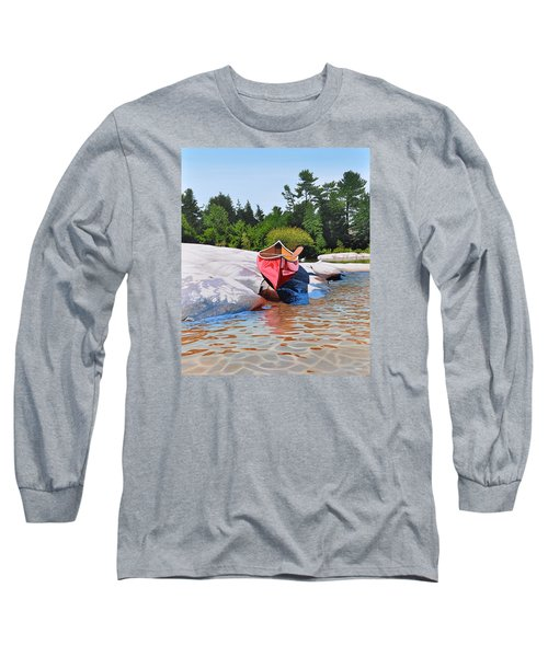 Long Sleeve T-Shirt featuring the painting Waters Edge by Kenneth M Kirsch