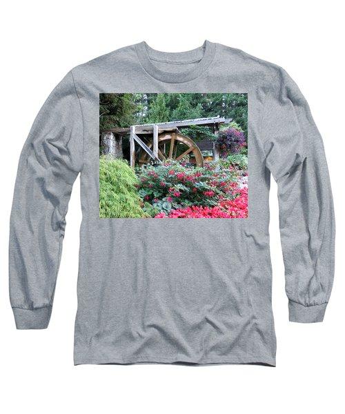 Waterwheel Long Sleeve T-Shirt by Betty Buller Whitehead