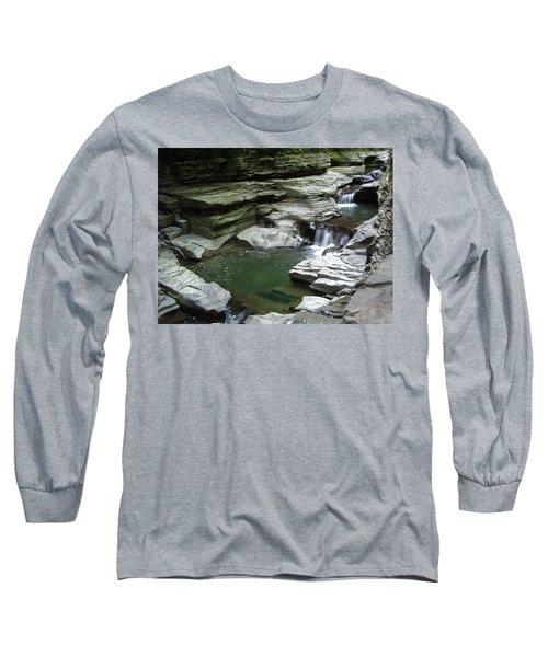Long Sleeve T-Shirt featuring the photograph Watkins Glen State Park by John Schneider