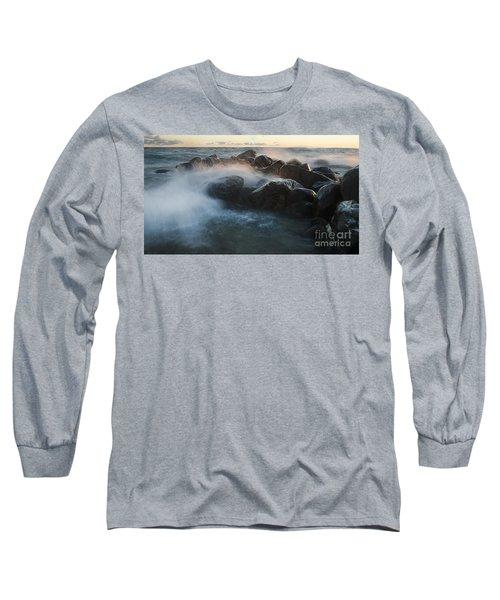 Wave Crashed Rocks 7947 Long Sleeve T-Shirt
