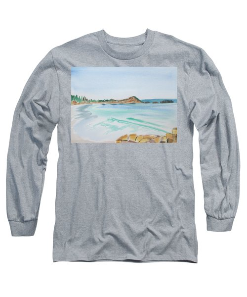 Waves Arriving Ashore In A Tasmanian East Coast Bay Long Sleeve T-Shirt
