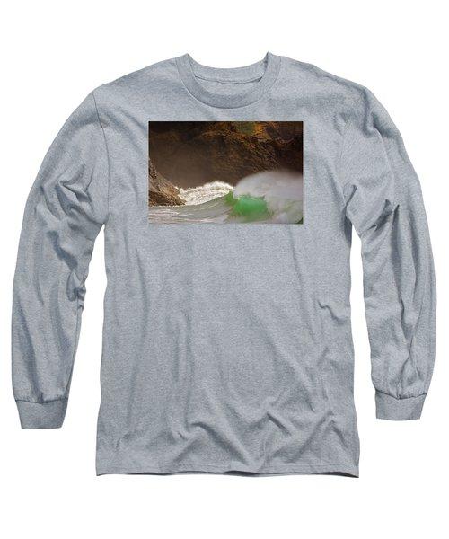 Waves At Waikiki Long Sleeve T-Shirt