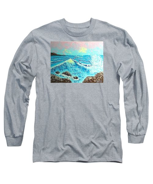 Waves Long Sleeve T-Shirt by Brenda Bonfield