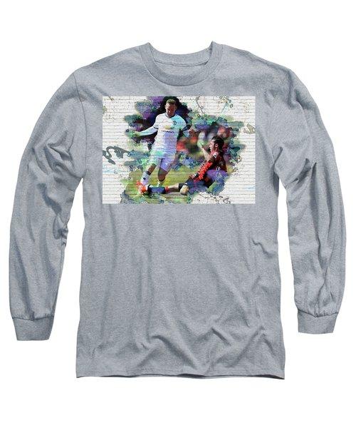 Wayne Rooney Street Art Long Sleeve T-Shirt