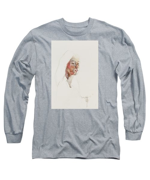 Wc Mini Portrait 3             Long Sleeve T-Shirt by Becky Kim
