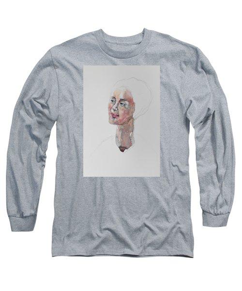 Wc Mini Portrait 9             Long Sleeve T-Shirt by Becky Kim