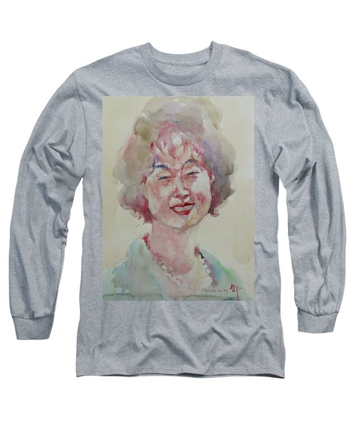 Wc Portrait 1627 My Sister Hyunju Long Sleeve T-Shirt by Becky Kim