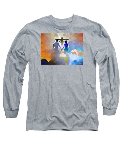 Long Sleeve T-Shirt featuring the painting We Are God's Masterpiece by Wayne Pascall