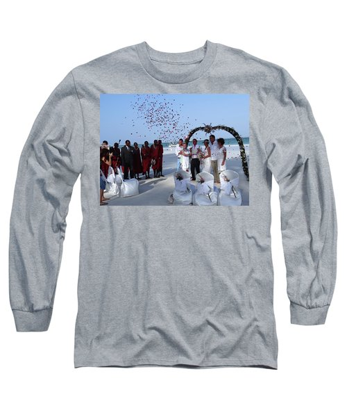 Wedding Party In Rose Petals Long Sleeve T-Shirt