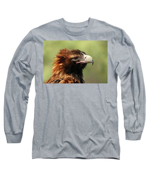 Wedge-tailed Eagle Long Sleeve T-Shirt by Marion Cullen