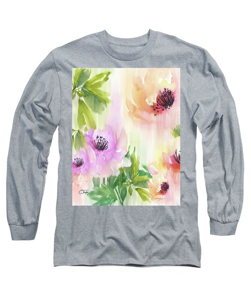 Long Sleeve T-Shirt featuring the painting Weeping Rose Forest by Colleen Taylor