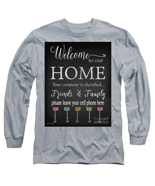 Long Sleeve T-Shirt featuring the digital art Welcome Home-e by Jean Plout