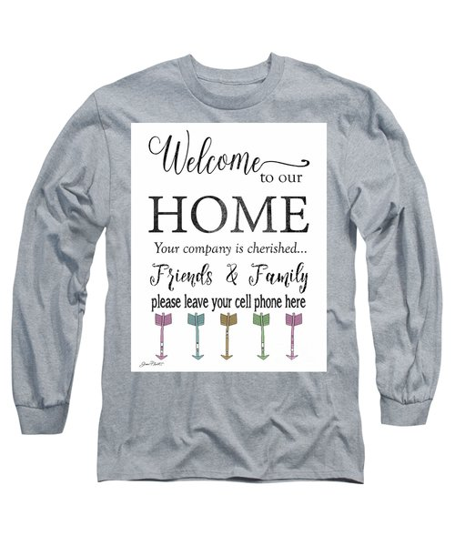 Long Sleeve T-Shirt featuring the digital art Welcome Home-f by Jean Plout