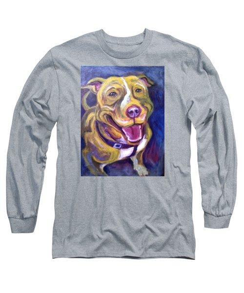 Long Sleeve T-Shirt featuring the painting Welcome Home by Laura Aceto