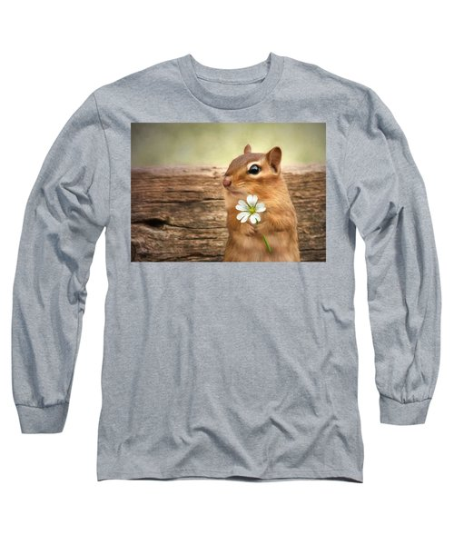 Welcome Spring Long Sleeve T-Shirt by Lori Deiter