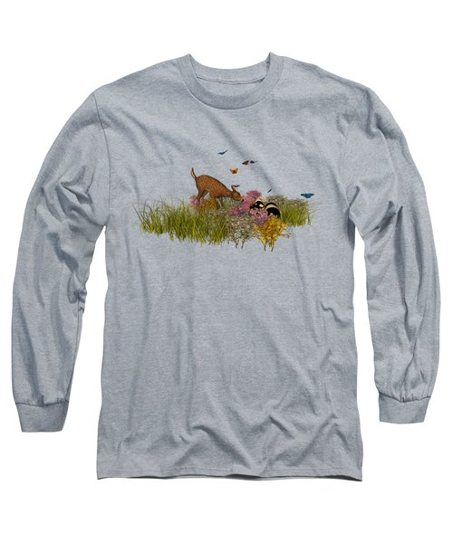 Long Sleeve T-Shirt featuring the digital art Welcome Spring by Methune Hively