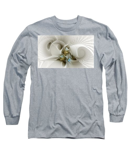 Welcome To The Second Floor-fractal Art Long Sleeve T-Shirt