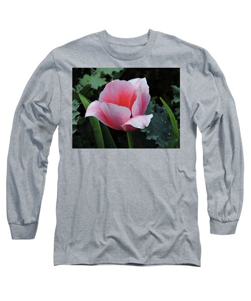 Welcome Tulip Long Sleeve T-Shirt by Penny Lisowski