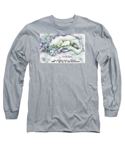 Long Sleeve T-Shirt featuring the painting Well Documented Fpi Editorial Cartoon by Dawn Sperry