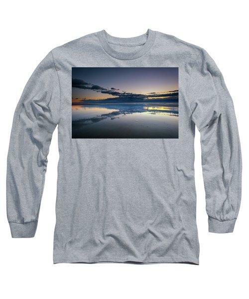 Long Sleeve T-Shirt featuring the photograph Wells Beach Reflections by Rick Berk