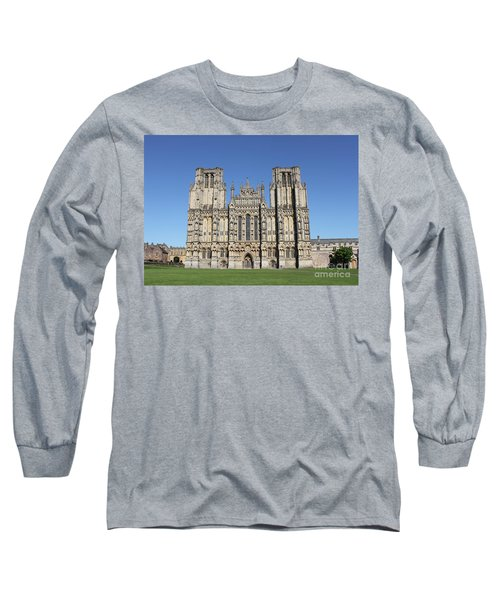 Long Sleeve T-Shirt featuring the photograph Wells Cathedral by Linda Prewer