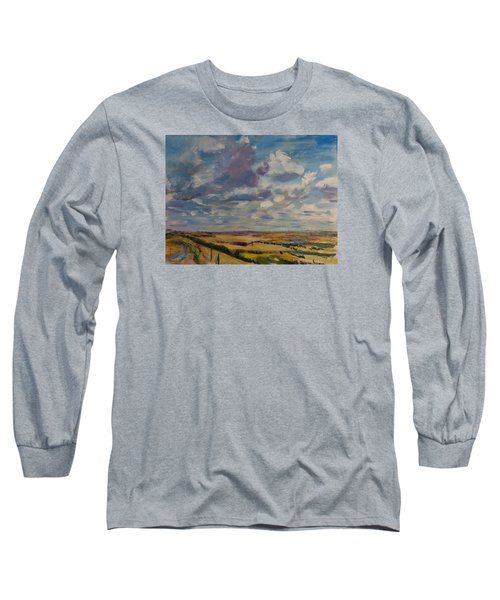 Skies Westward Long Sleeve T-Shirt by Helen Campbell