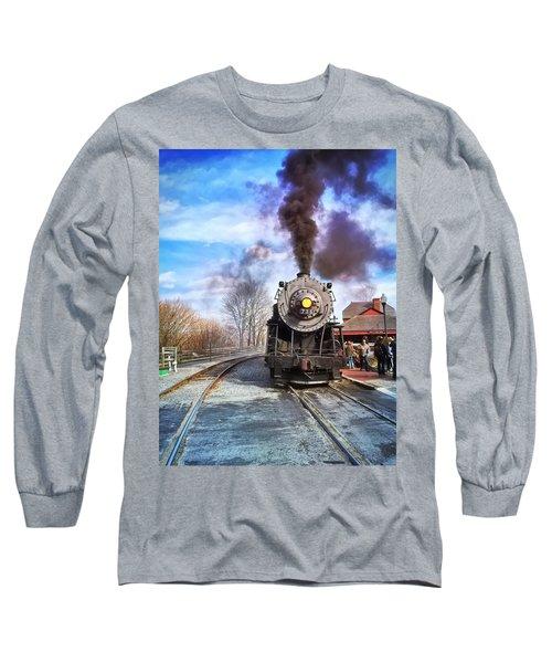 Western Maryland Steam Engine Long Sleeve T-Shirt