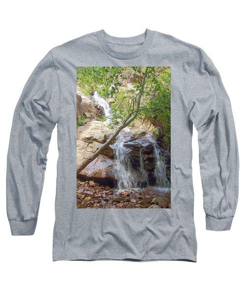 Western Side Of Etiwanda Falls Long Sleeve T-Shirt