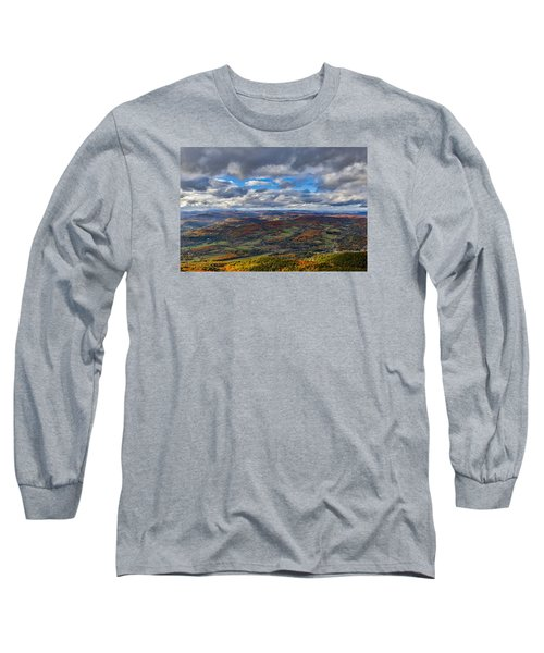Western View From Mt Ascutney Long Sleeve T-Shirt