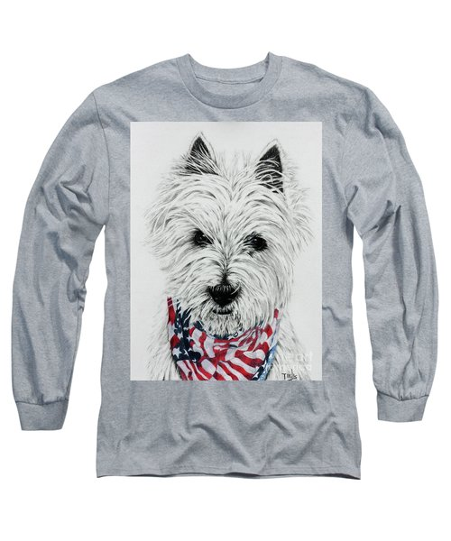Westie Long Sleeve T-Shirt by Terri Mills