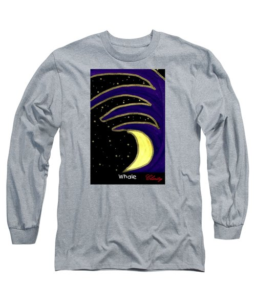Long Sleeve T-Shirt featuring the painting Whale by Clarity Artists