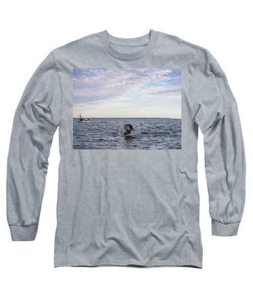 Whale Watching In Canada Long Sleeve T-Shirt by Trace Kittrell
