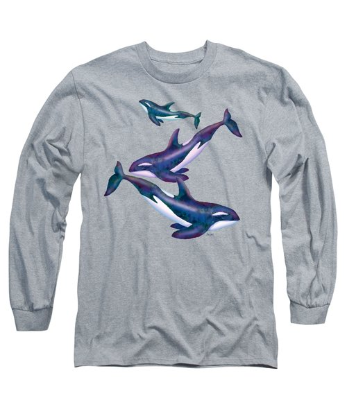 Whale Whimsey Design Long Sleeve T-Shirt