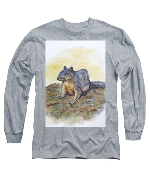 What Are You Looking At? Long Sleeve T-Shirt by Clyde J Kell