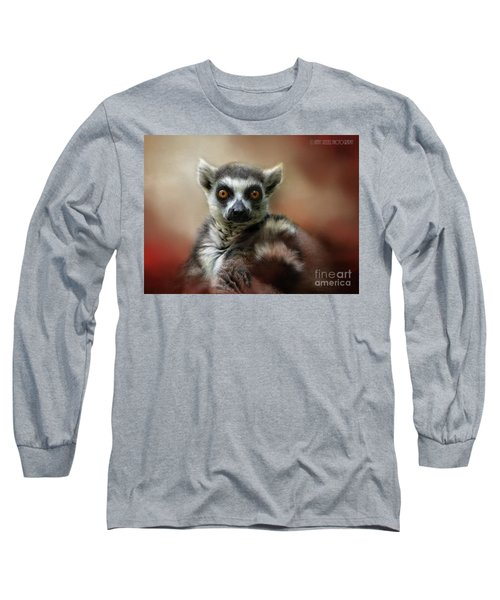 What Big Eyes You Have Long Sleeve T-Shirt by Kathy Russell