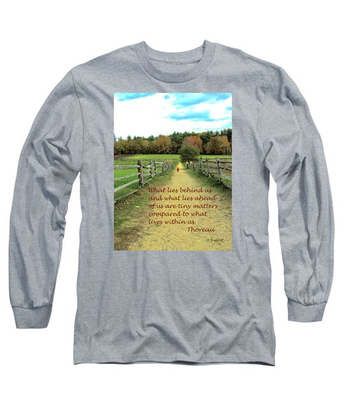 What Lies Ahead Long Sleeve T-Shirt by Deborah Dendler