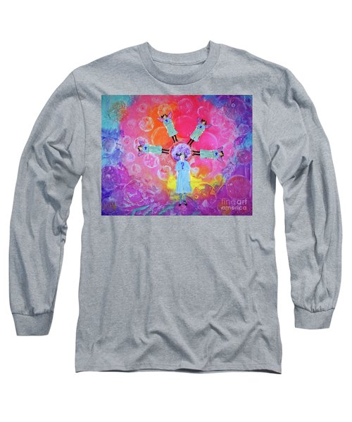 Long Sleeve T-Shirt featuring the mixed media What To Do by Desiree Paquette