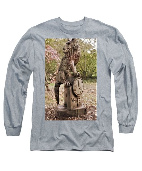 Whats The Time Mr Wolf Long Sleeve T-Shirt by John Williams