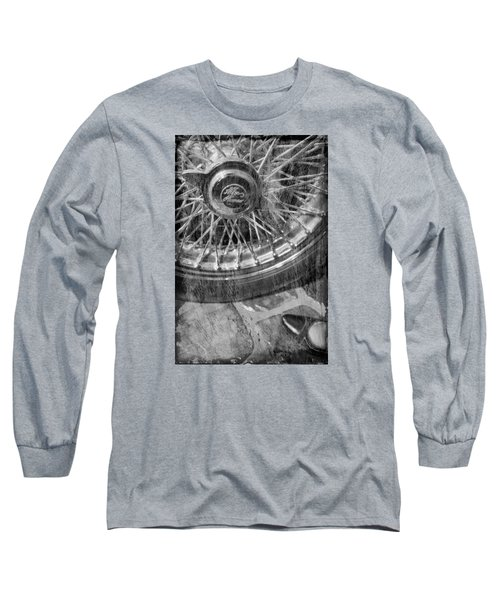 Long Sleeve T-Shirt featuring the photograph Wheel Of An Old Car. by Andrey  Godyaykin