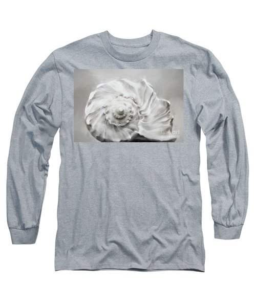 Long Sleeve T-Shirt featuring the photograph Whelk In Black And White by Benanne Stiens
