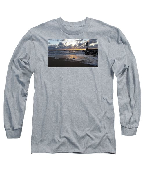 Whelk Shell And Sunrise Long Sleeve T-Shirt by Robert Banach