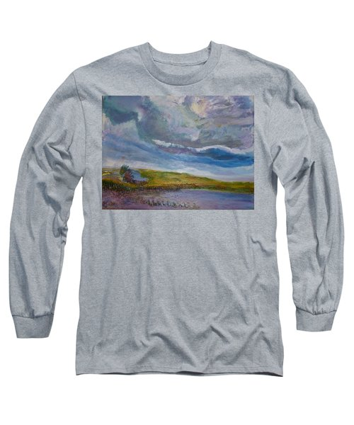 When Push Comes To Shove Long Sleeve T-Shirt by Helen Campbell