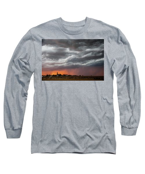 When Trouble Rises.....  Long Sleeve T-Shirt by Shirley Heier