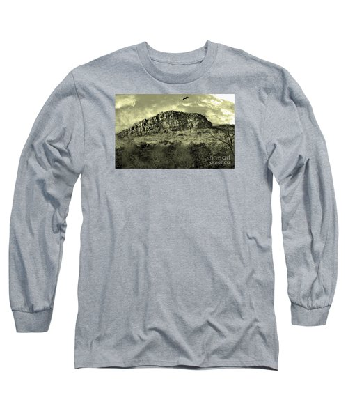 Where Eagle Dare-ii Long Sleeve T-Shirt by Manjot Singh Sachdeva