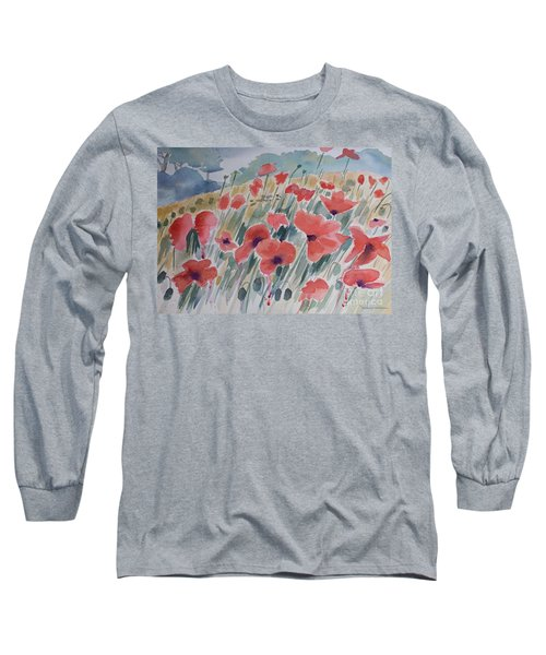 Where Poppies Grow Long Sleeve T-Shirt